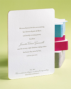 Julie Holcomb Printers Ecofriendly Custom Letterpress Wedding